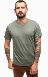 Хлопковая футболка цвета хаки Lerros