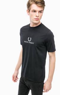 Хлопковая футболка с вышивкой Fred Perry