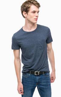 Однотонная футболка с карманом Tom Tailor Denim