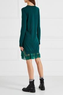 Платье из шерсти и шелка No.21
