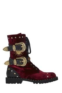 Бархатные ботинки Fausto Puglisi