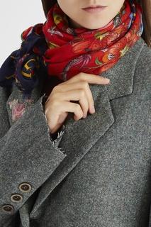 Платок из шерсти и шелка Gucci