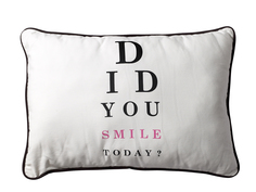 "Подушка ""Did you smile today"" Bloomingville"
