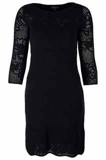 Платье с узором на рукавах Luisa Spagnoli