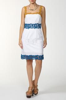 Прямое платье с кружевом FHILOSOPHY DI ALBERTA FERRETTI