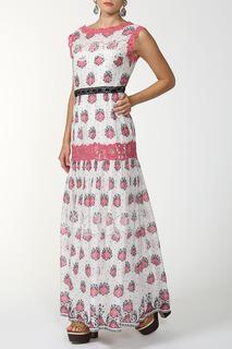 Длинное платье с кружевными вставками FHILOSOPHY DI ALBERTA FERRETTI