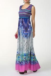 Длинное приталенное платье в пол Alberta Ferretti