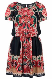 Короткое платье с рукавами реглан Valentino Red