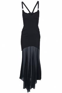 Прилегающее длинное платье на бретельках Versace Collection