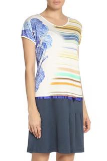 Платье комбинированное с короткими рукавами VALTUSI