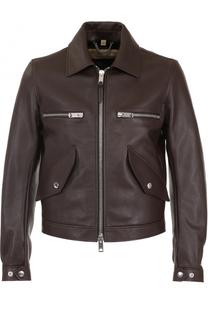 Кожаная куртка на молнии Burberry