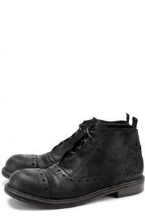 Кожаные ботинки с брогированием на шнуровке O.X.S.