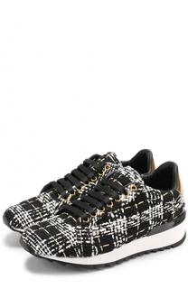 Вязаные кроссовки на шнуровке Casadei