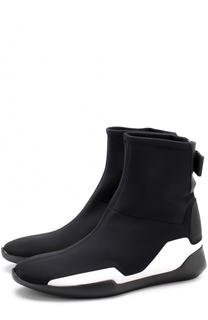 Высокие текстильные кроссовки без шнуровки Vic Matie