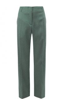 Укороченные брюки со стрелками и принтом Dries Van Noten