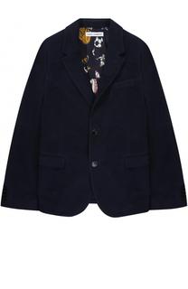 Однобортный пиджак из хлопка Dolce & Gabbana