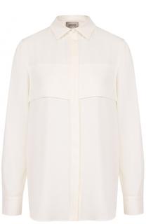 Шелковая блуза свободного кроя Armani Collezioni