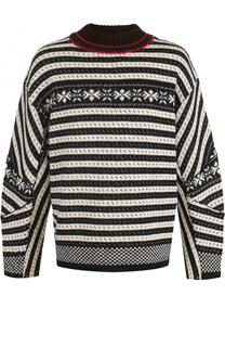 Шерстяной свитер свободного кроя Dries Van Noten