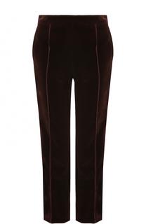 Укороченные бархатные брюки прямого кроя Lanvin