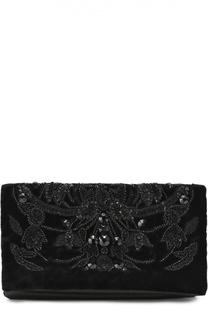 Клатч с вышивкой стразами и отделкой бархатом Ralph Lauren