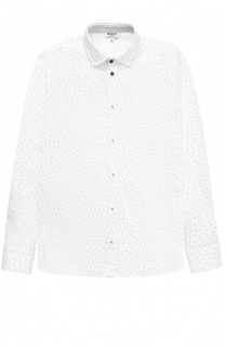 Хлопковая рубашка прямого кроя с принтом Aletta