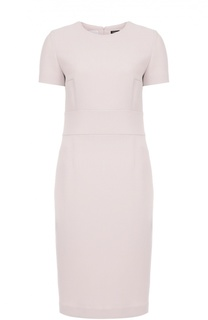 Шерстяное платье-футляр с коротким рукавом Kiton