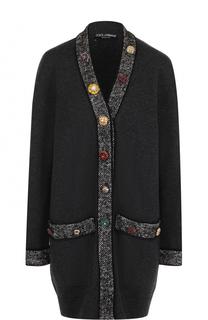 Кашемировый кардиган с декорированными пуговицами Dolce & Gabbana