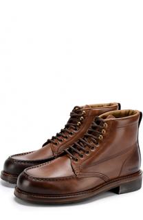 Кожаные ботинки с эффектом деграде на шнуровке Tom Ford