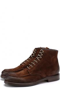Замшевые ботинки с эффектом деграде на шнуровке Doucals