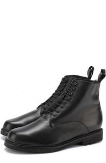 Кожаные ботинки на шнуровке ROBERT CLERGERIE