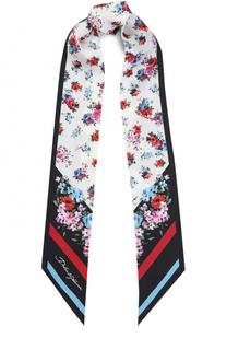 Шелковый шарф-бандо с цветочным принтом Dolce & Gabbana