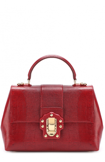 Сумка Lucia из тисненой кожи Dolce & Gabbana