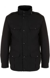 Пуховая куртка на молнии с воротником-стойкой Polo Ralph Lauren