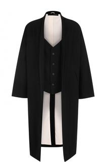 Пальто из смеси хлопка и шерсти с подстежкой Isabel Benenato