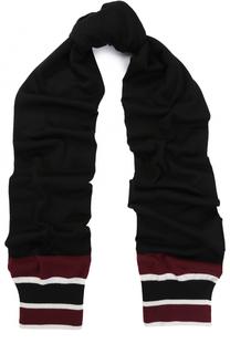 Шерстяной шарф с контрастной отделкой Dolce & Gabbana