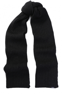 Шерстяной шарф фактурной вязки Woolrich