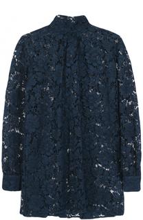 Кружевная блуза свободного кроя с воротником аскот Valentino
