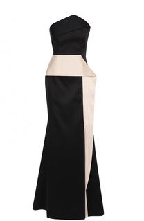 Платье-бюстье с оборками Roland Mouret