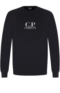 Хлопковый свитшот с логотипом бренда C.P. Company