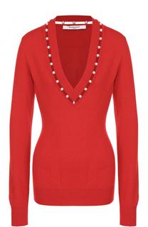 Пуловер из смеси шерсти и шелка и кашемиром Givenchy
