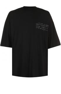 Хлопковая футболка с удлиненным рукавом Isabel Benenato