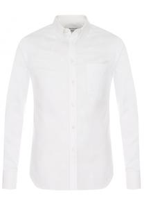 Хлопковая сорочка с воротником button down Alexander McQueen