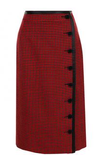 Шерстяная юбка-миди в клетку Altuzarra