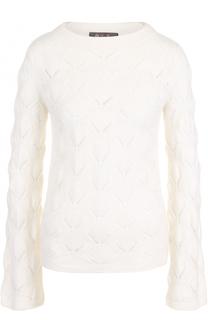 Пуловер фактурной вязки из смеси кашемира и шелка Loro Piana