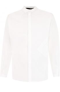 Хлопковая рубашка с воротником-стойкой Isabel Benenato