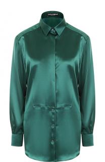 Удлиненная шелковая блуза Dolce & Gabbana