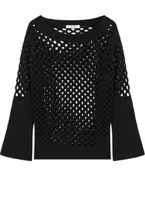 Шерстяной пуловер с перфорацией и круглым вырезом Dorothee Schumacher
