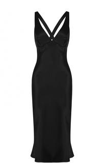 Приталенное платье-миди с открытой спиной Acne Studios