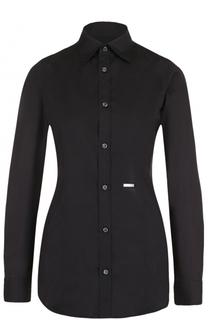 Приталенная хлопковая блуза Dsquared2