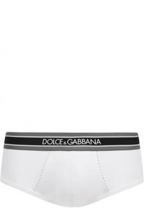 Хлопковые хипсы с широкой резинкой Dolce & Gabbana